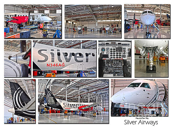 Silver Airways Large Composite Print by Diane E Berry