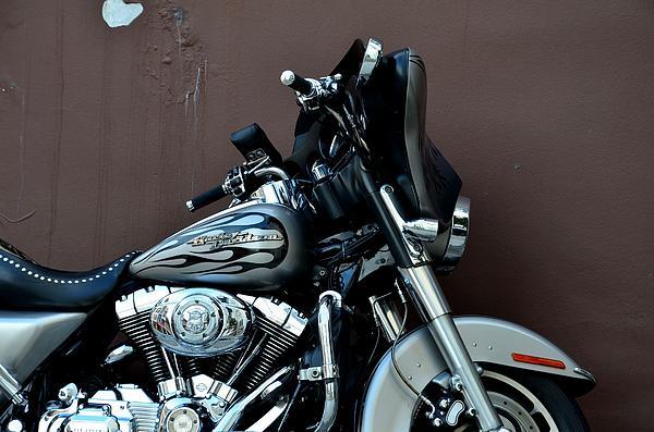 Silver Harley Motorcycle Print by Imran Ahmed