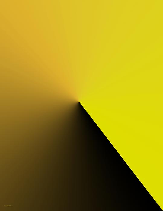 Simple Geometric Solution In Yellow Print by Mario  Perez