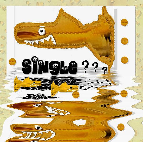 Single Shark Pop Art Print by Pepita Selles