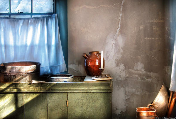 Sink - The Jug And The Window Print by Mike Savad