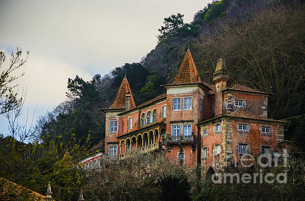 Sintra Mansion Print by Deborah Smolinske
