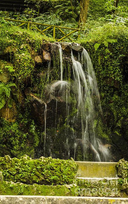 Sintra Waterfall Print by Deborah Smolinske