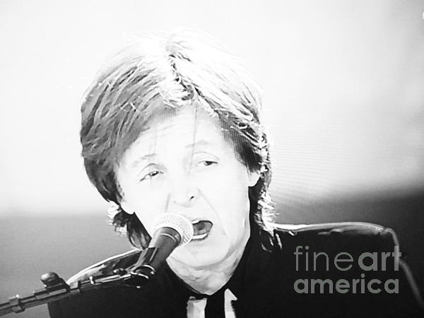 Sir Paul In Monochrome Print by Tina M Wenger