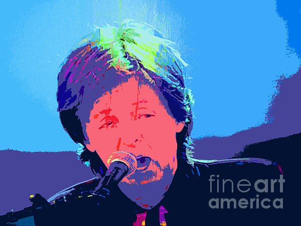 Sir Paul Pop Art Print by Tina M Wenger