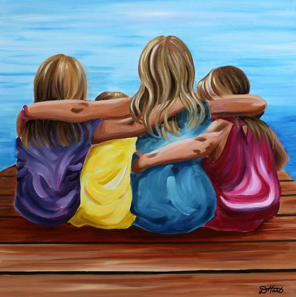 Sisters Print by Debbie Hart