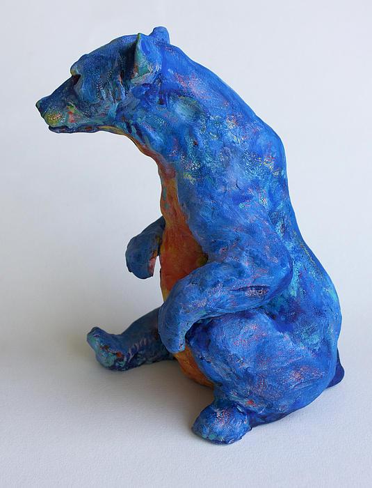 Sitting Bear-sculpture Print by Derrick Higgins
