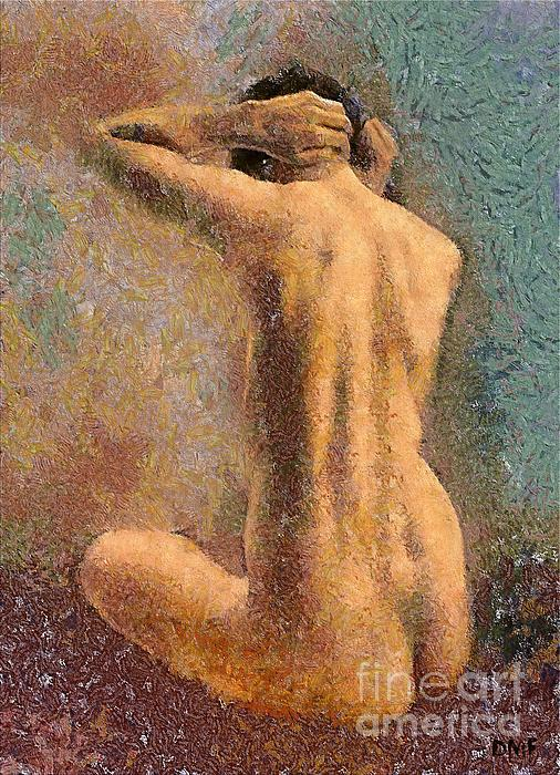Sitting Nude 3 Print by Dragica  Micki Fortuna