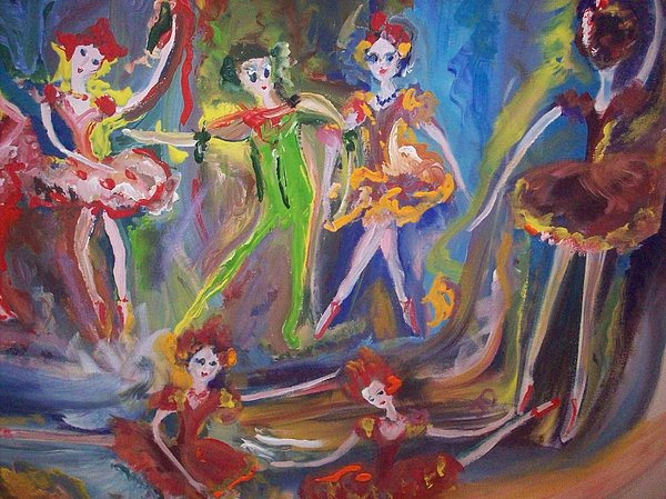 Six Eight Waltz Print by Judith Desrosiers