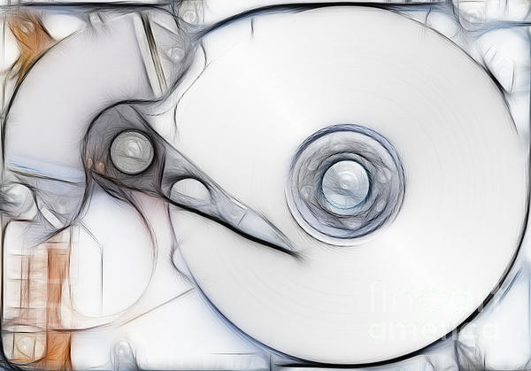 Sketch Of The Hard Disc Print by Michal Boubin