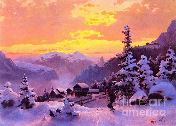 Ski Print by Pg Reproductions