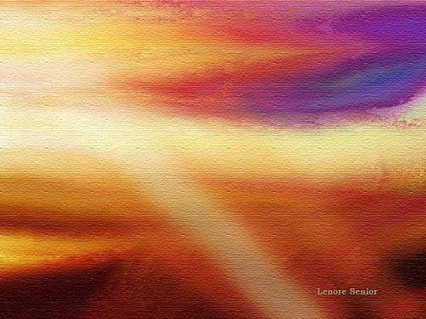 Skies 5 Print by Lenore Senior