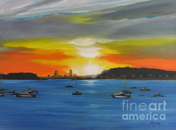Skies Over The City Print by Barbara Hayes