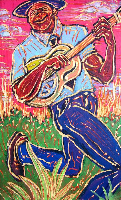 Skippin' Blues Print by Robert Ponzio