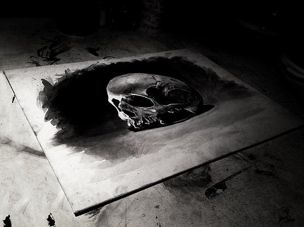 Skull Print by Christian Klute