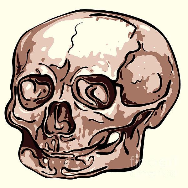 Skull Print by Michal Boubin