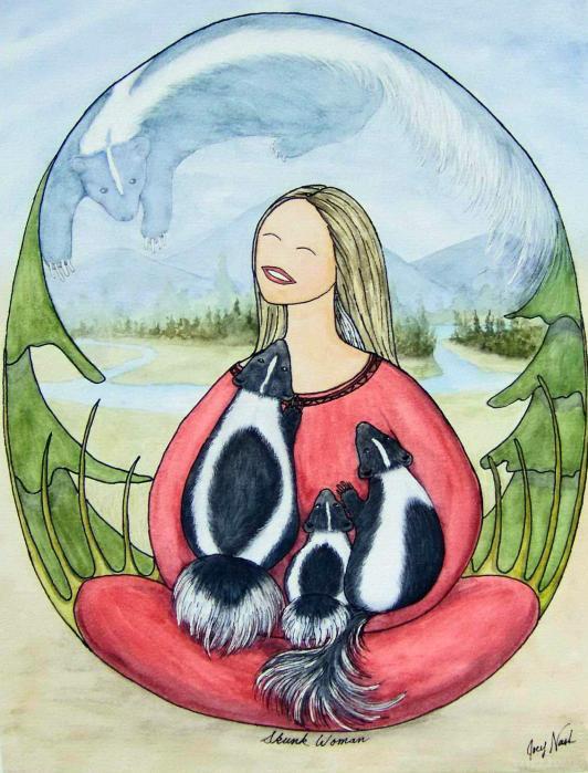Skunk Woman Print by Joey Nash