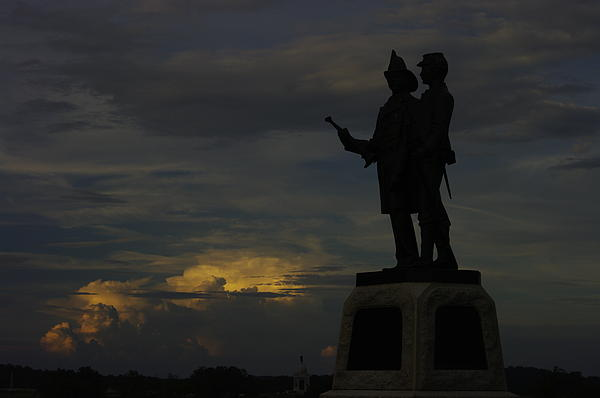 Sky Fire - 73rd Ny Infantry 4th Excelsior 2nd Fire Zouaves - Summer Evening Thunderstorms Gettysburg Print by Michael Mazaika