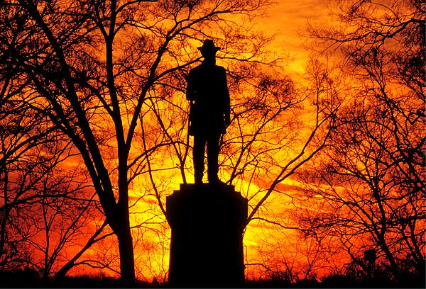 Sky Fire - Flames Of Battle 50th Pennsylvania Volunteer Infantry-a1 Sunset Antietam Print by Michael Mazaika