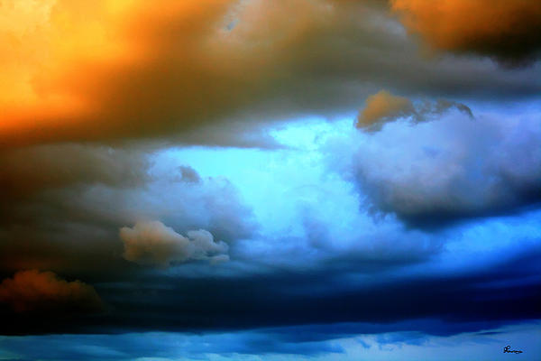 Sky In Peril Print by Andrea Lawrence
