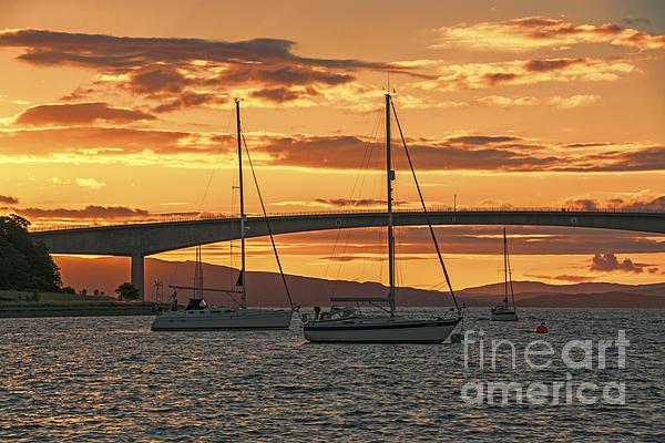 Skye Bridge Sunset Print by Chris Thaxter