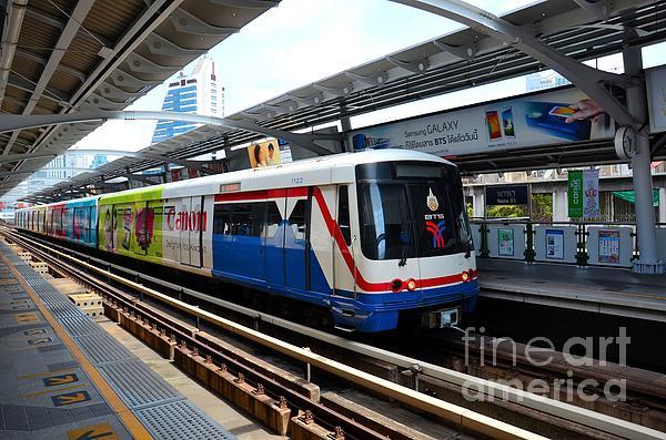Skytrain carriage metro railway at nana station bangkok thailand by imran ahmed - Carrage metro ...
