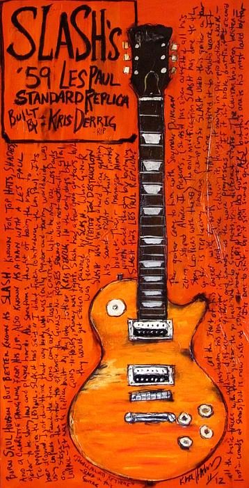 Slash Les Paul Replica Print by Karl Haglund