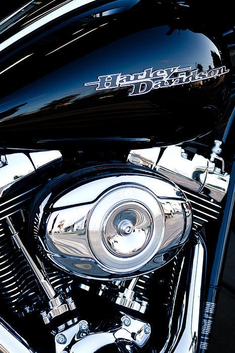 Sleek Black Harley Print by David Patterson
