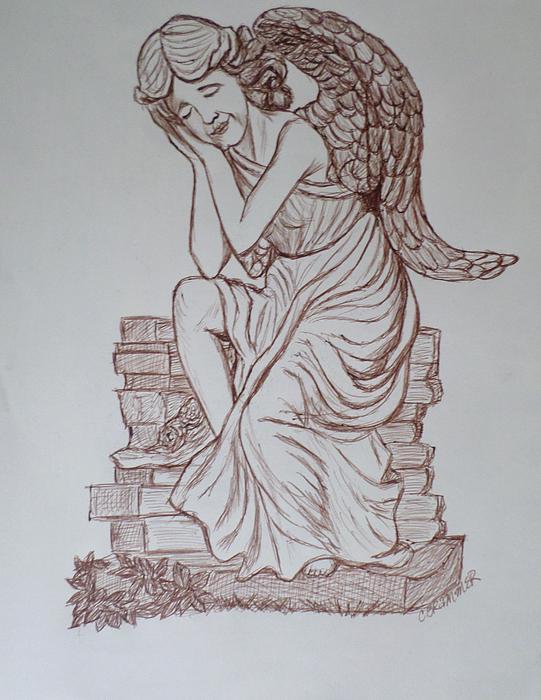 Sleep In Heavenly Peace Print by Christy Brammer