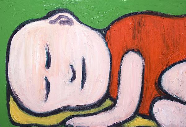 Sleeping Baby Buddha Print by Kazuya Akimoto