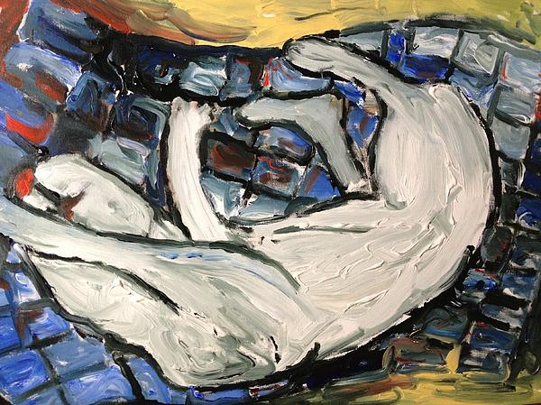 Sleeping Cat Print by Patrick Humphreys