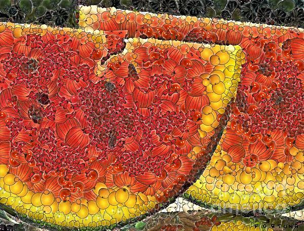 Slices Of Watermelon Print by Dragica  Micki Fortuna
