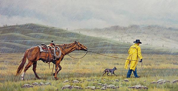 Slicker Weather Print by Paul Krapf