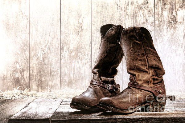 Slouch Cowboy Boots Print by Olivier Le Queinec
