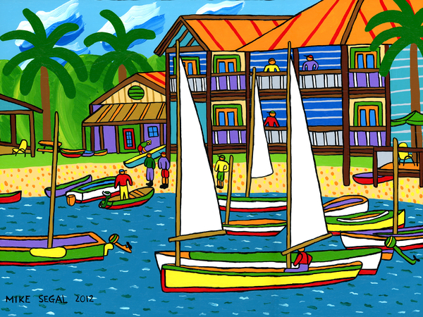 Small Boat Regatta - Cedar Key Print by Mike Segal