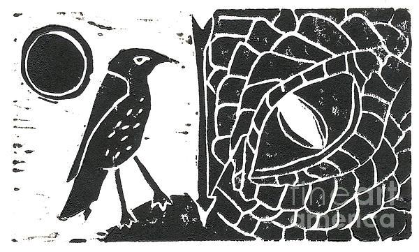 Smaug And The Thrush Print by Lynn-Marie Gildersleeve