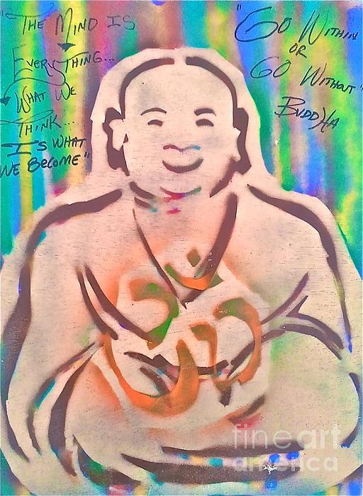 Smiling Brown Buddha  Print by Tony B Conscious