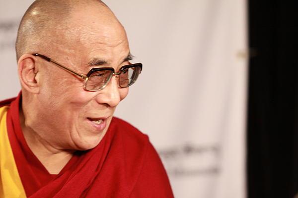 Smiling Dalai Lama Print by Kate Purdy