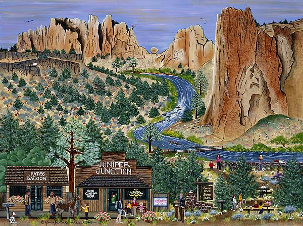 Smith Rock State Park Print by Jennifer Lake