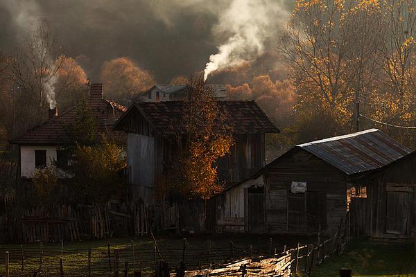 Smoke Of Chimney Print by Yavuz Sariyildiz