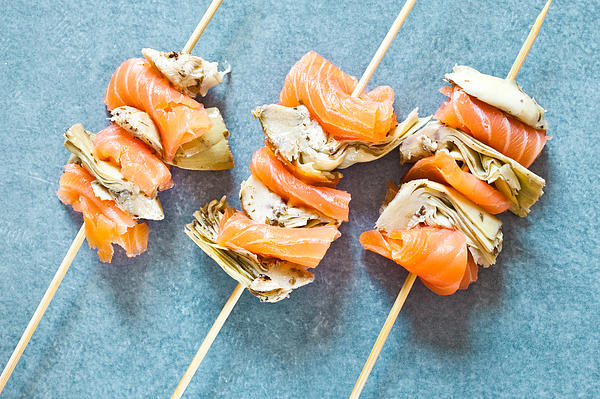 Smoked Salmon And Grilled Artichoke Print by Tom Gowanlock