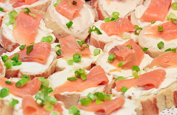 Smoked salmon canape by tom gowanlock for Smoked salmon canape