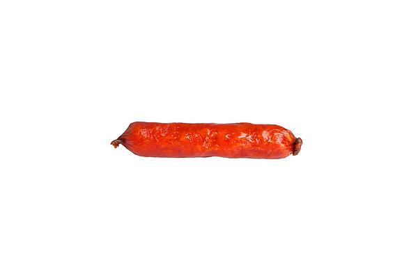 Smoked Sausage Isolated Print by Aleksey Tugolukov
