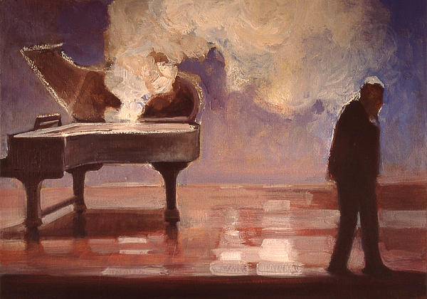 Smokin Piano Print by Emily Gibson
