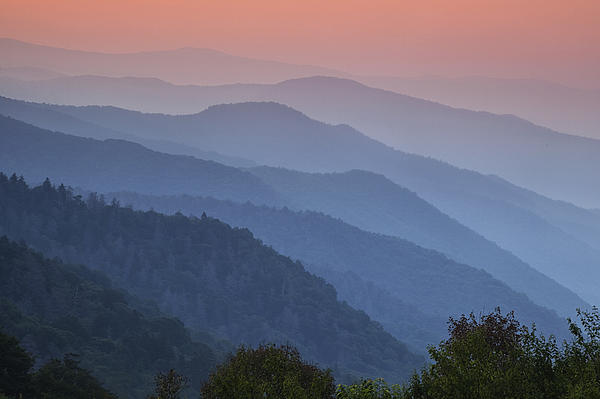 Smoky Mountain Morning Print by Andrew Soundarajan