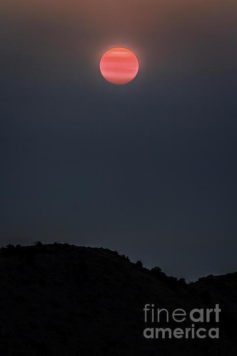 Smoky Sunrise Print by Mitch Shindelbower