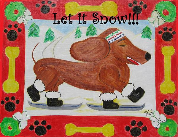Snow Dog Print by Diane Pape