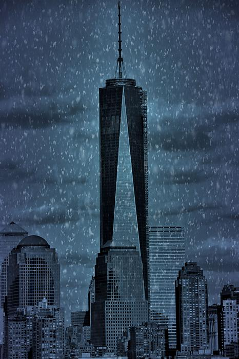 Snow In New York City Print by Dan Sproul
