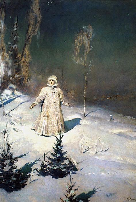 Snow Maiden 1899 By Vasnetsov Print by Movie Poster Prints