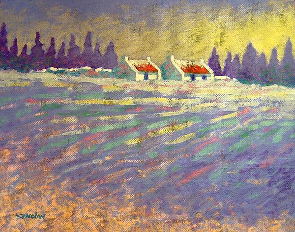 Snow Scape County Wicklow Print by John  Nolan